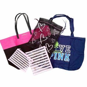 PINK Victoria Secret Tote Travel 4 Piece Bundle
